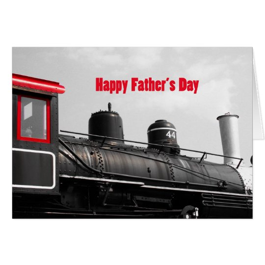 Happy Father's Day Train Card