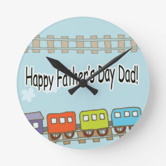 Happy Fathers Day Train Clocks
