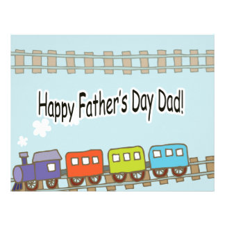 Happy Fathers Day Train Letterhead Template