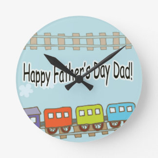 Happy Fathers Day Train Wallclocks