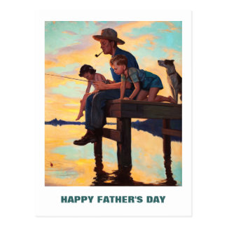 Happy Father's Day. Vintage Art Postcards