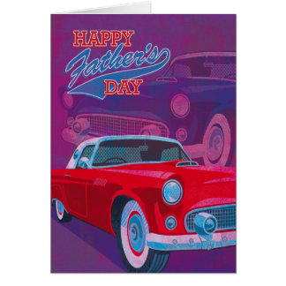 Happy Father's Day Vintage Classic Cars Card