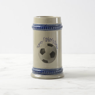 Happy Father's Day with Football Art Beer Stein
