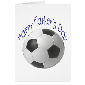 Happy Father's Day with Football Art Card