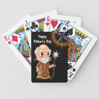 Happy Father's Day with wizard or warlock to Dad Poker Deck