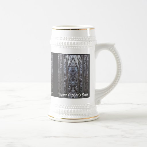 HAPPY FATHER'S DAY WOODLAND CATHEDRAL COFFEE MUGS