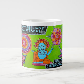 Happy Feelings Will Attract More Happy Circumstanc Large Coffee Mug