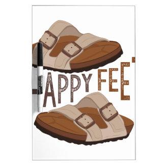 Happy Feet Dry-Erase Whiteboards