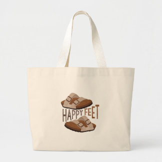 Happy Feet Large Tote Bag