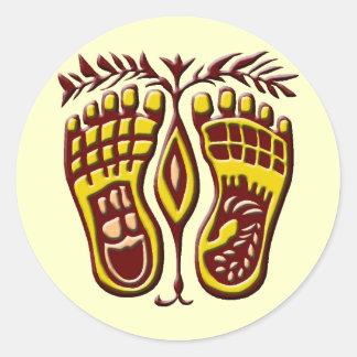 Happy Feet Round Sticker