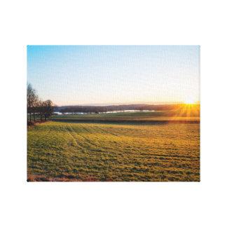Happy field canvas print