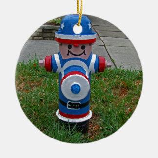 Happy FireHydrant I Ceramic Ornament