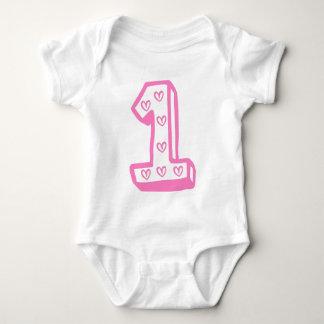 Happy First Birthday Baby Bodysuit