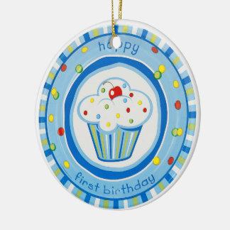 happy first birthday ceramic ornament