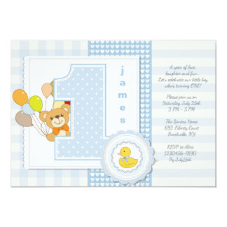 Happy First Birthday Invitation