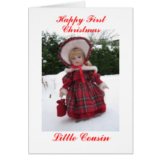 Happy first Christmas Little Cousin Card