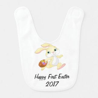 Happy First Easter 2017 Bib