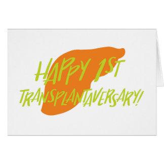 Happy First Liver Transplantaversary Card