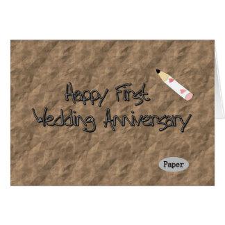 Happy First Wedding Anniversary Card