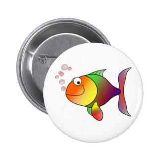 _Happy Fish 2 Inch Round Button