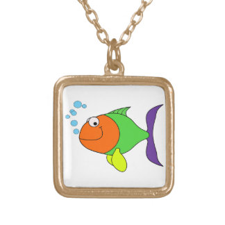 Happy Fish Gold Plated Necklace