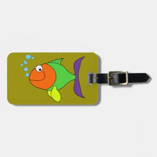 Happy Fish Luggage Tag