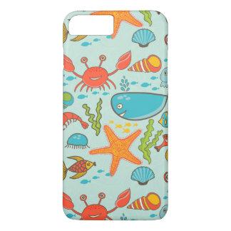 Happy Fish Marine Pattern iPhone 8 Plus/7 Plus Case
