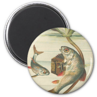 """Happy Fish"" Round Magnet"