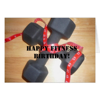 Happy fitness birthday Card