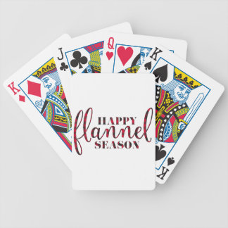 Happy Flannel Season Bicycle Playing Cards