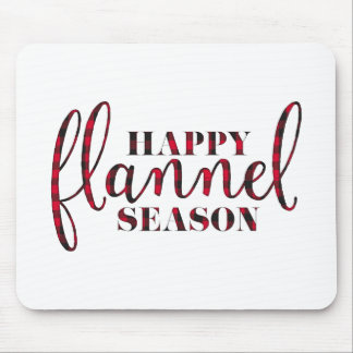 Happy Flannel Season Mouse Pad