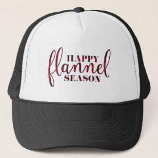 Happy Flannel Season Trucker Hat