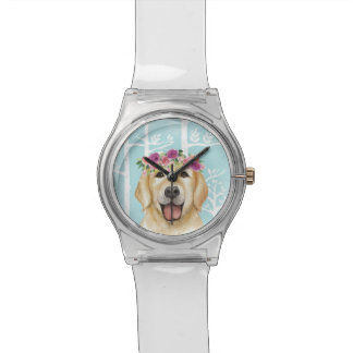 Happy Flower Animal in Blue Forest-Dog-Retriever Watch