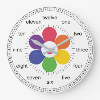 Happy Flower For Kids Large Clock