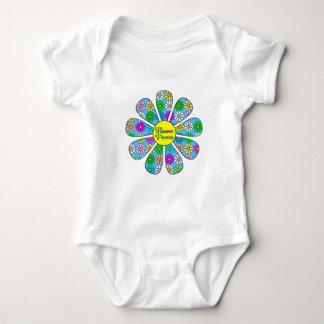 Happy Flower Power Baby Bodysuit