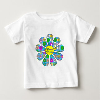 Happy Flower Power Baby T-Shirt