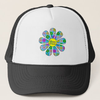 Happy Flower Power Trucker Hat
