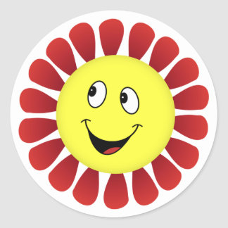 Happy Flower Sticker