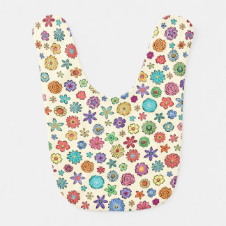 Happy Flowers baby bib