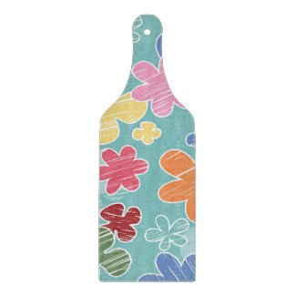 Happy Flowers Decorative Glass Cutting Paddle Boards