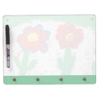 Happy flowers dry erase boards