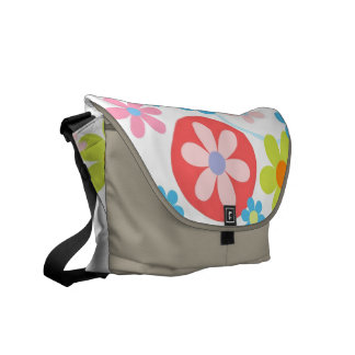 Happy flowers messanger bag courier bag
