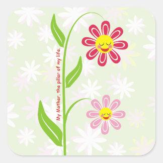 Happy flowers Mother's Day custom sticker