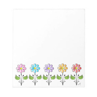 Happy Flowers Multi Colors Notepad