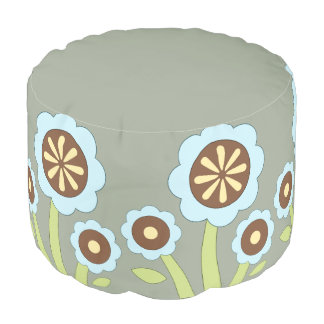 Happy Flowers Pouf