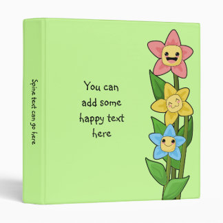 Happy Flowers Vinyl Binders