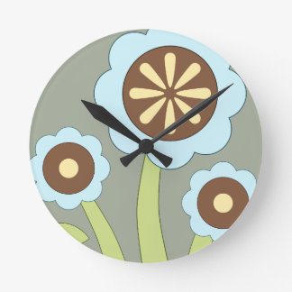 Happy Flowers Wallclock