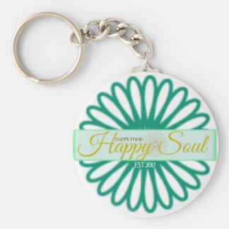 Happy Food Happy Soul Keychain