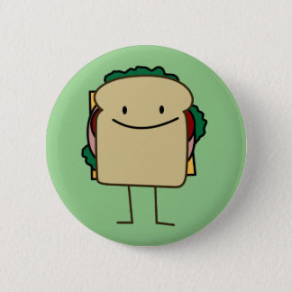 Happy Foods Smiling Sandwich 2 Inch Round Button