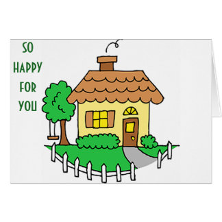 HAPPY FOR YOU/NEW MEMORIES IN YOUR NEW HOME GREETING CARD